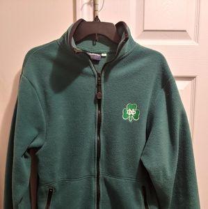 Notre Dame Fighting Irish Green Zip Fleece Jacket